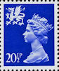 Regional Definitive - Wales 20.5p Stamp (1983) Ultramarine