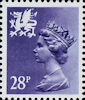 Regional Definitive - Wales 28p Stamp (1983) Deep Violet Blue