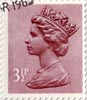 Definitive 3.5p Stamp (1983) Purple Brown