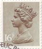 Definitive 16p Stamp (1983) Olive Drab