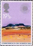 Commonwealth Day 19.5p Stamp (1983) Desert