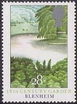 British Gardens 28p Stamp (1983) 18th-Century Garden, Blenheim
