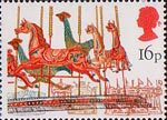 British Fairs 16p Stamp (1983) Merry-go-round
