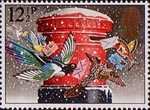 Christmas 1983 12.5p Stamp (1983) 'Christmas Post' (pillar-box)