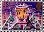 Christmas 1983 28p Stamp (1983) 'Light of Christmas' (street lamp)