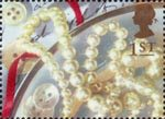 Greetings - Memories 1st Stamp (1992) Pearl Necklace