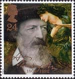 Tennyson  24p Stamp (1992) Tennyson in 1888 and The Beguiling of Merlin (Sir Edward Burne-Jones)