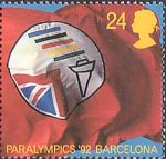 Europa. International Events 24p Stamp (1992) British Paralympic Association Symbol (Paralympics 1992, Barcelona)