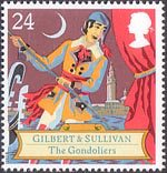 Gilbert and Sullivan 24p Stamp (1992) The Gondoliers