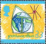 The Green Issue 33p Stamp (1992) Greenhouse Effect