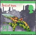 The Green Issue 39p Stamp (1992) Bird of Hope