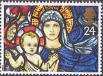 Christmas 1992 24p Stamp (1992) Madonna and Child, St. Marys Bilbury