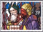 Christmas 1992 39p Stamp (1992) Kings with Frankincense and Myrrh, Our Lady and St Peter, Leatherhead