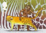 Rudyard Kiplings Just So Stories 1st Stamp (2002) How the Leopard got his Spots