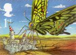 Rudyard Kiplings Just So Stories 1st Stamp (2002) The Butterfly that stamped