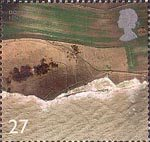 British Coastlines 27p Stamp (2002) Cliffs, Dover, Kent