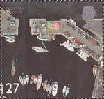 British Coastlines 27p Stamp (2002) Padstow Harbour, Cornwall