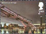 Bridges of London 2nd Stamp (2002) Millennium Bridge, 2001