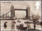 Bridges of London 1st Stamp (2002) Tower Bridge, 1894 (Francis Frith)