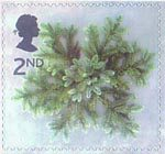 Christmas 2002 2nd Stamp (2002) Blue Spruce Star