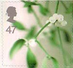 Christmas 2002 47p Stamp (2002) Mistletoe