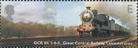 Classic Locomotives E Stamp (2004) GCR Class 8K, Leicestershire