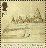 The Lord of the Rings 1st Stamp (2004) Minas Tirith