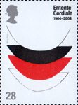 Entente Cordiale 28p Stamp (2004) 'Lace 1 (trial proof) 1968' (Sir Terry Frost)