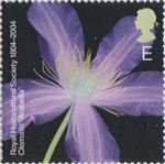 The Royal Horticultural Society (1st) E Stamp (2004) Clematis 'Arabella'