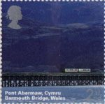 A British Journey - Wales 2nd Stamp (2004) Barmouth Bridge