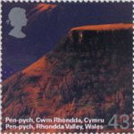 A British Journey - Wales 43p Stamp (2004) Pen-pych, Rhondda Valley