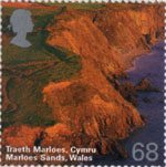A British Journey - Wales 68p Stamp (2004) Marloes Sands