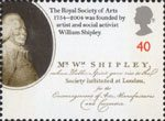 The Royal Society of Arts 40p Stamp (2004) William Shipley (Founder of Royal Society of Arts)