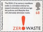 The Royal Society of Arts 68p Stamp (2004) 'Zero Waste'