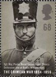 The Crimean War 68p Stamp (2004) Sgt. Maj. Poole, Royal Sappers and Miners, Defensive Line, Battle of Inkerman