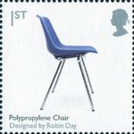 Design Classics 1st Stamp (2009) Polypropylene Chair by Robin Day