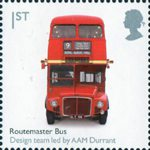Design Classics 1st Stamp (2009) Routemaster Bus by A.A.M. Durrant (team)