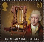 Pioneers of the Industrial Revolution 50p Stamp (2009) Richard Arkwright - Textiles