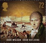 Pioneers of the Industrial Revolution 72p Stamp (2009) John McAdam - Road Building