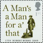 250th Anniversary of Robert Burns 1st Stamp (2009) A Mans a Man for a' that