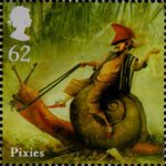 Mythical Creatures 62p Stamp (2009) Pixies