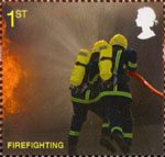 Fire and Rescue Service 1st Stamp (2009) Firefighting