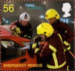 Fire and Rescue Service 56p Stamp (2009) Emergency Rescue