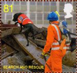Fire and Rescue Service 81p Stamp (2009) Search and Rescue