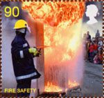 Fire and Rescue Service 90p Stamp (2009) Fire Safety