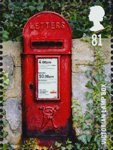 Post Boxes 81p Stamp (2009) Victorian Lamp Box