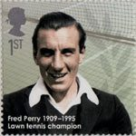 Eminent Britons 1st Stamp (2009) Fred Perry 1909-1995