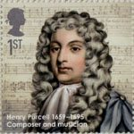 Eminent Britons 1st Stamp (2009) Henry Purcell 1659-1695