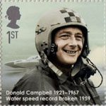 Eminent Britons 1st Stamp (2009) Donald Campbell 1921-1967