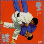 Olympic and Paralympic Games 2012 1st Stamp (2009) Judo